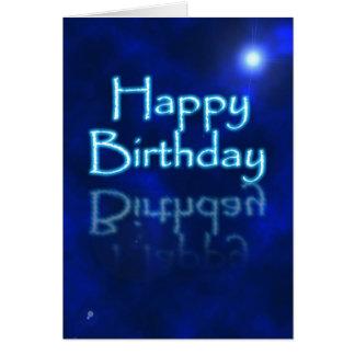 Happy Birthday glow Greeting Card
