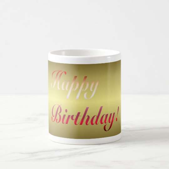 Happy birthday Gold Mug