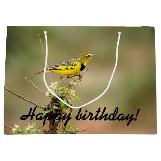 Happy birthday! Golden pipit, Kenya, Photo Large Gift Bag