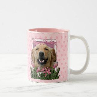 Happy Birthday - Golden Retriever - Mickey Two-Tone Coffee Mug