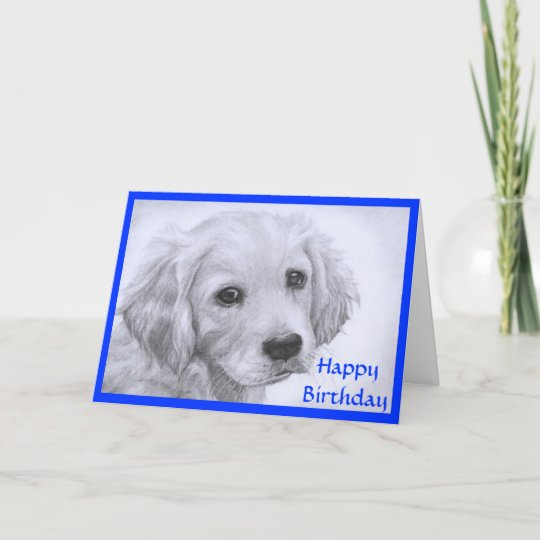 Happy Birthday Golden Retriever Puppy Card Zazzle
