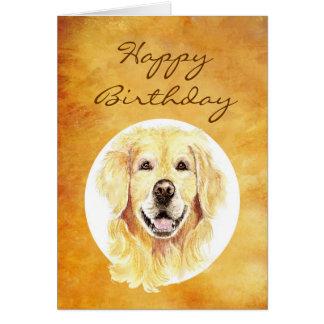 Happy Birthday Golden Years, Golden Retriever Card