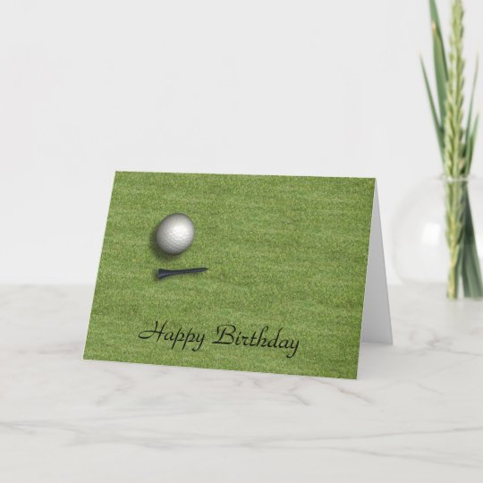 Happy Birthday Golf Ball Card