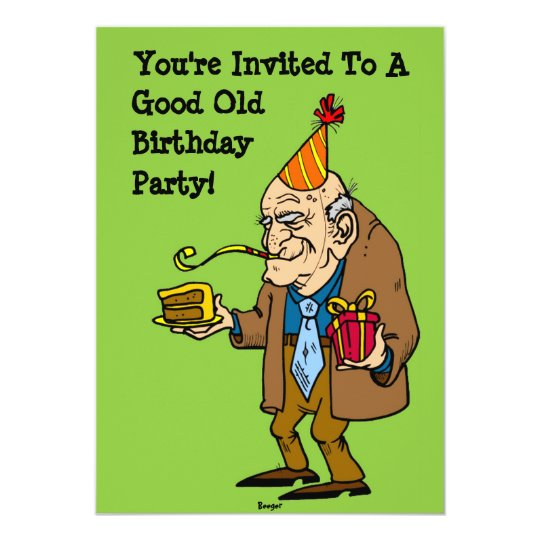 Good Old Party (old Man) Invitation