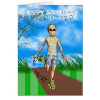 Happy Birthday grampa cartoon card humour