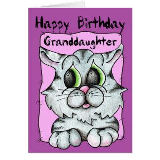Happy Birthday Granddaughter Card