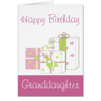 Happy Birthday Granddaughter Card