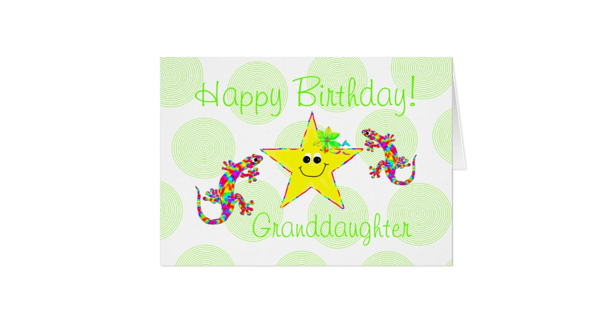 happy birthday granddaughter card zazzle