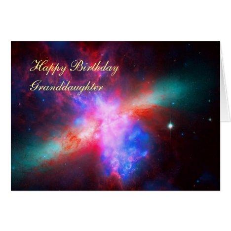 Happy Birthday Granddaughter - Cigar Galaxy Card