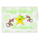 Happy Birthday Granddaughter Greeting Card