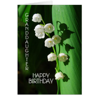 Happy Birthday Granddaughter Lily of the Valley Card