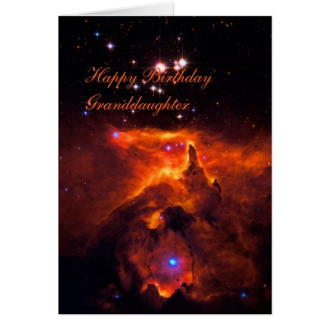 Happy Birthday Granddaughter - Star Cluster Pismis Card