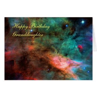 Happy Birthday Granddaughter - Swan Nebula Centre Card