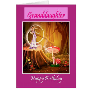 Happy Birthday Granddaughter wife fairy faerie Card