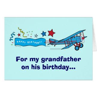 Happy Birthday Grandfather Airplane Card