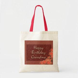 Happy Birthday Grandma Canvas Bags