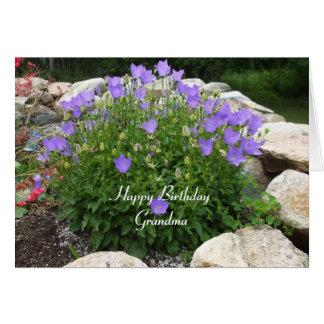 Happy Birthday Grandma-Canterbury Bells Greeting Card