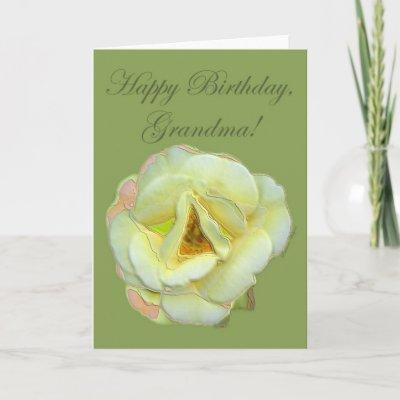 Happy Birthday, Grandma Card by rosewood_designs