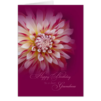 Happy Birthday Grandma Card / Dahlia