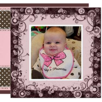 Happy Birthday Grandma, Pink and Brown Birthday Card