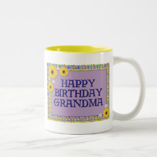 Happy Birthday Grandma Two-Tone Coffee Mug