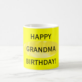 Happy Birthday Grandma Yellow Mug by Janz