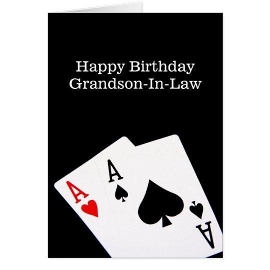 Happy Birthday GrandsonInLaw Card – Birthday Greetings Grandson