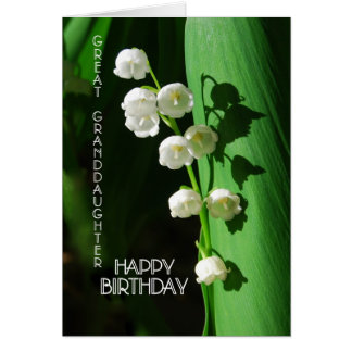 Happy Birthday Great Granddaughter Lily of the Val Card