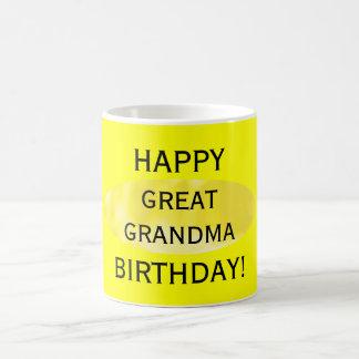 Happy Birthday Great Grandma Yellow Mug by Janz