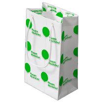 Happy Birthday Green Balloons Gift Bag