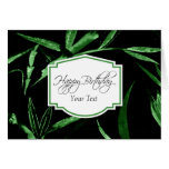 Happy Birthday Green Bamboo Greeting Card
