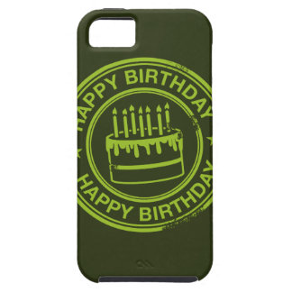 Happy Birthday -green rubber stamp effect- iPhone SE/5/5s Case