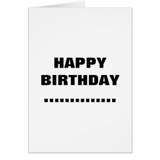 HAPPY BIRTHDAY..... GREETING CARD