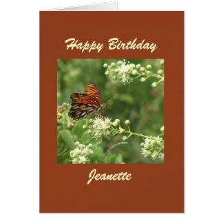 Happy Birthday Greeting Card, Butterfly, Custom Card