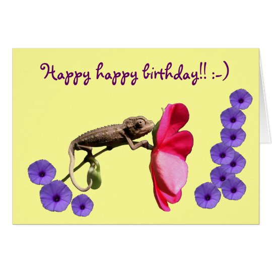 Happy birthday greeting card by GrouchyChameleon