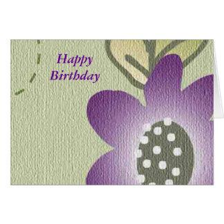 Happy Birthday Greeting Card - Floral