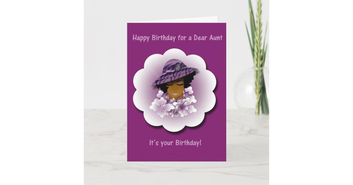 Happy Birthday Greeting Card For Aunt Zazzle
