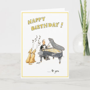 Happy Birthday Greeting Card For Music Lovers