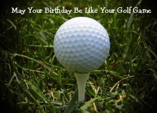 Happy Birthday Greeting Card For The Golfer