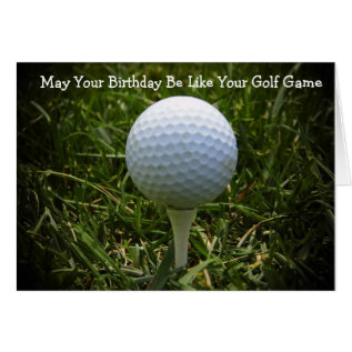 Happy Birthday Greeting Card For The Golfer! at Zazzle