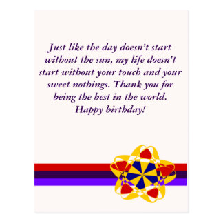 Happy Birthday Greeting Card - My life message