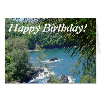 Happy Birthday greeting card ocean from Hawaii
