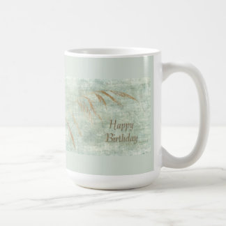 Happy Birthday Greeting Card Wild Grass Coffee Mug