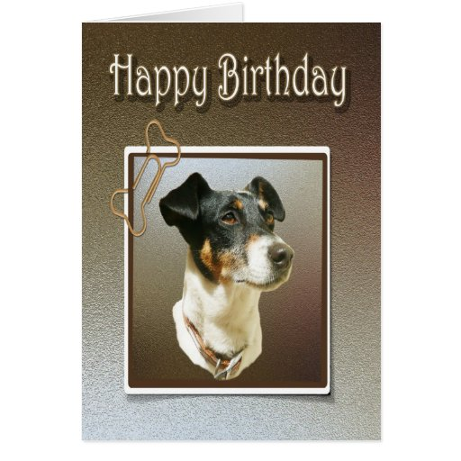 Happy Birthday Greeting Card With Jack Russel Dog
