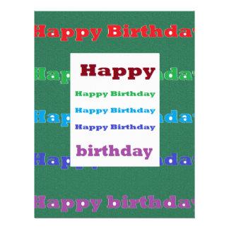 Happy Birthday Greeting Script Acrylic Red base 99 Letterhead