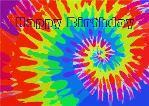 tie dye birthday cards zazzle