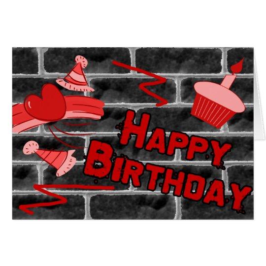 Happy Birthday Grunge Graffiti Card