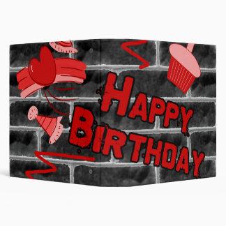 Happy Birthday Grunge Graffiti Set 3 Ring Binder