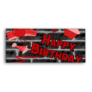 Happy Birthday Grunge Graffiti Set Envelope