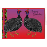Happy Birthday -Guinea Fowl Cards